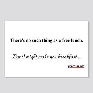 There's no such thing as a free lunch Postcards (P