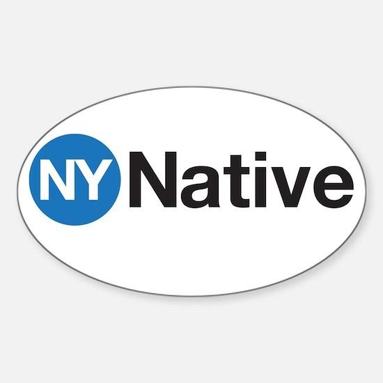 NY Native Subway Sticker (Oval)