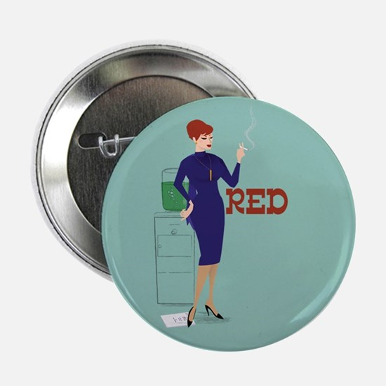"""Mad Men Red 2.25"""" Button"""