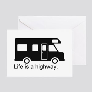 """Life is a highway."" RV Greeting Card"