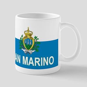 Sammarinese Flag (labeled) Mug