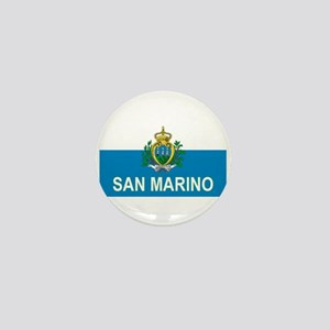 Sammarinese Flag (labeled) Mini Button