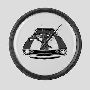 67 Camaro Large Wall Clock