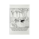 A Philosopher in the Woods Rectangle Magnet (10 pa