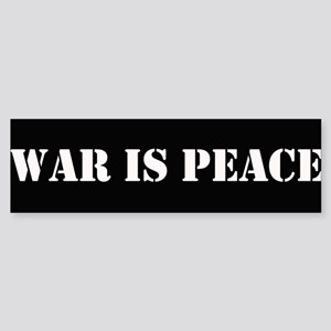 War is Peach Bumper sticker