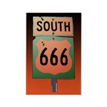 Route 666 Rectangle Magnet (100 pack)