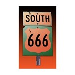 Route 666 Rectangle Sticker