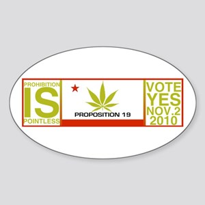 Proposition19 Sticker (Oval)