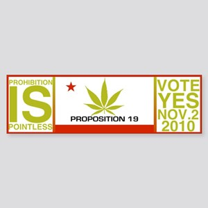 Proposition19 Sticker (Bumper)