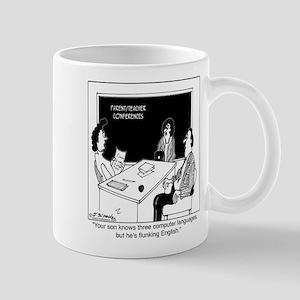 Knows Computer, but not English Mug