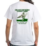 Grass Kickers Lawn Care White T-Shirt