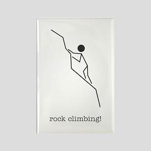 rock climbing! Rectangle Magnet