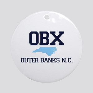 Outer Banks NC - Map Design Ornament (Round)