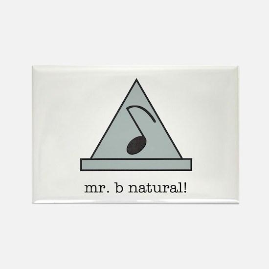 mr. b natural! Rectangle Magnet