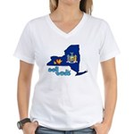 ILY New York Women's V-Neck T-Shirt