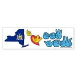 ILY New York Sticker (Bumper 10 pk)