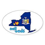 ILY New York Sticker (Oval 50 pk)