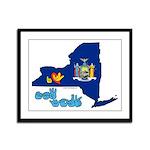 ILY New York Framed Panel Print