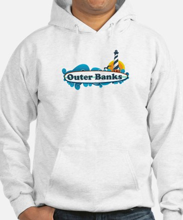 Outer Banks NC - Surf Design Hoodie