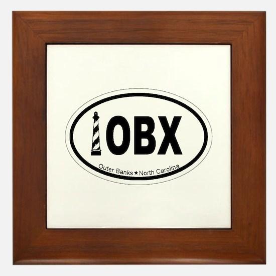 Outer Banks NC - Oval Design Framed Tile
