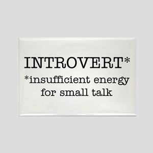 INTROVERT insufficient energy Rectangle Magnet