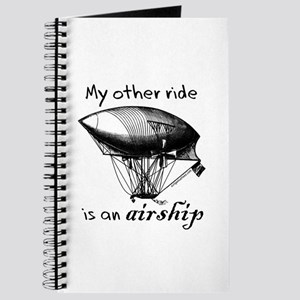Other ride is an airship steampunk Journal
