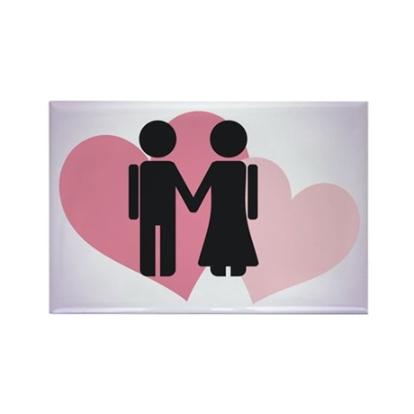Valentine Couple Rectangle Magnet (100 pack)