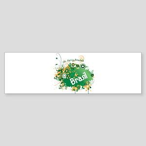 retro Brasil Sticker (Bumper)