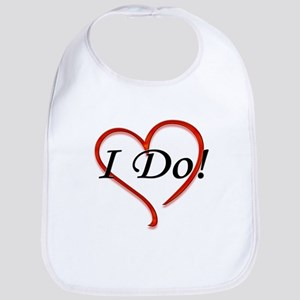 I Do! Bride Wedding Design Bib