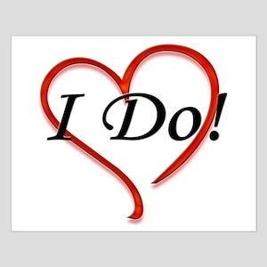 I Do! Bride Wedding Design Small Poster