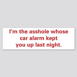 Car Alarm Revenge Sticker (Bumper)