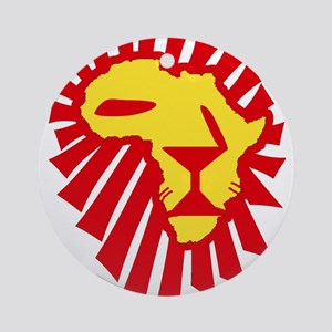 Red Lion Ornament (Round)