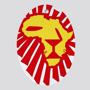 Red Lion Ornament (Oval)