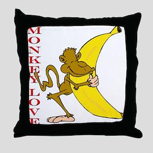 Hot Monkey Love Throw Pillow