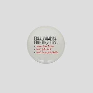 Vampire Fighting Tips Mini Button