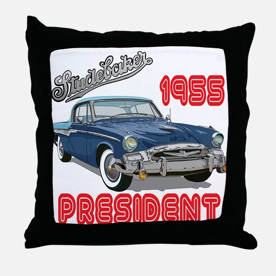 The 1955 President coupe Throw Pillow