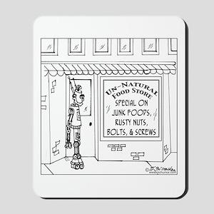Robot @ an Unnatural Food Store Mousepad