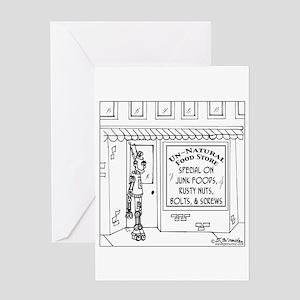 Robot @ an Unnatural Food Store Greeting Card