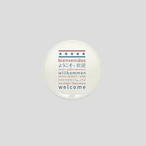 """Welcome USA"" Mini Button"