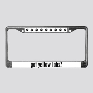 Got Yellow Labs? License Plate Frame