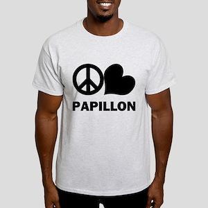 Peace Love Papillon Light T-Shirt