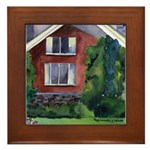 New England Watercolor Framed Tile