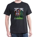 New England Watercolor Black T-Shirt