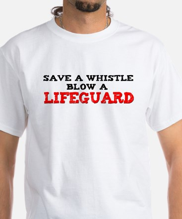 Save a Whistle White T-Shirt