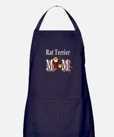Rat Terrier Mom Apron (dark)