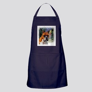 Boxer Dog Art Gifts Apron (dark)