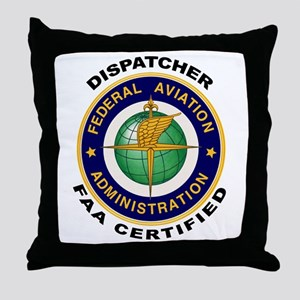 FAA Certified Dispatcher Throw Pillow