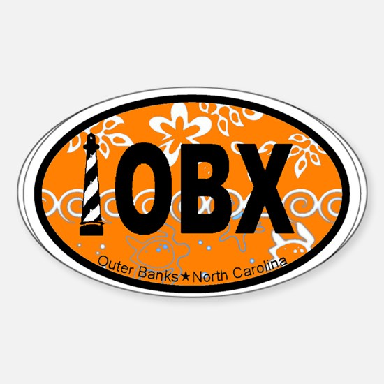 Outer Banks NC - Oval Design Sticker (Oval)