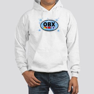 Outer Banks NC - Oval Design Hooded Sweatshirt