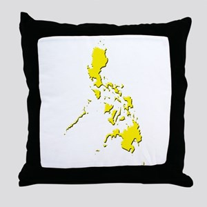 Pinoy Map - Yellow Throw Pillow